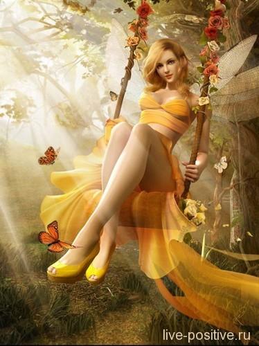 Фея солнечного света - давным-давно тест в интернете выдал мне именно эту картинку : )