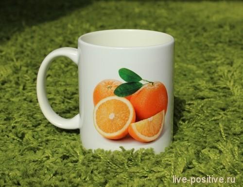 кружка с апельсинами