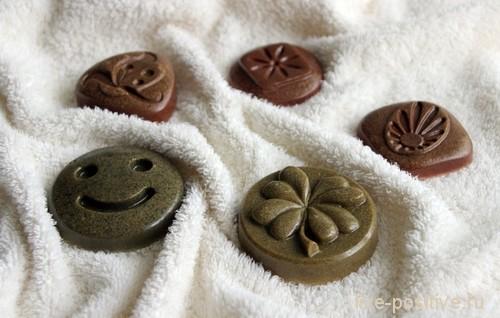 натуральное мыло с разной глиной