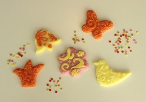желтово-розово-оранжевое мыло