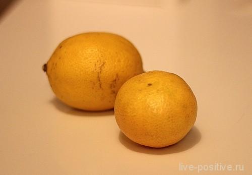 лимон и мандарин