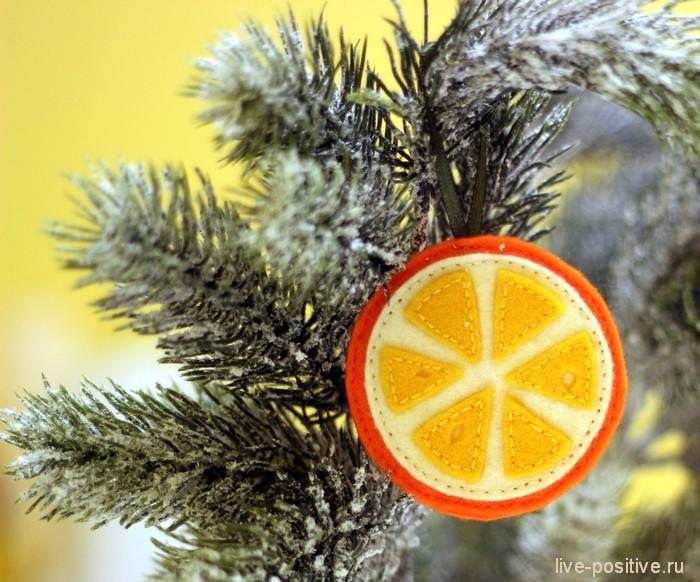 апельсинка из фетра
