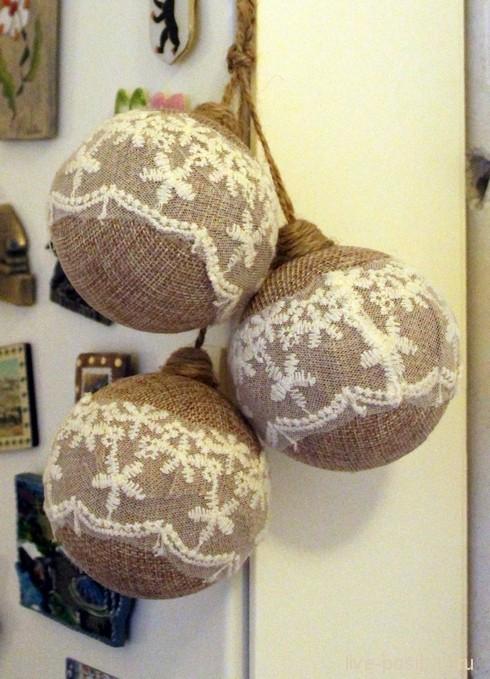 винтажные новогодние шарики
