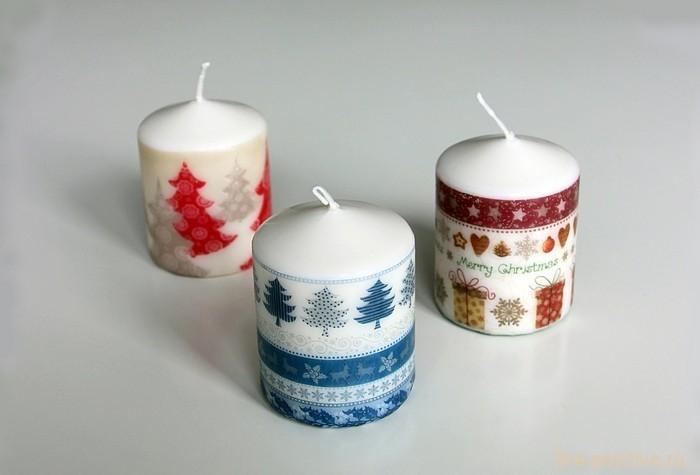 3 рождественских свечи