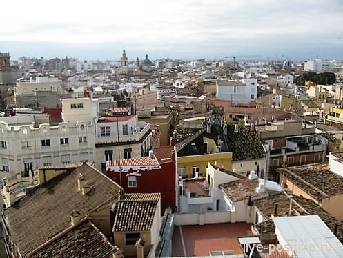 Вид на Валенсию с башни