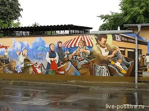 Граффити рядом с набережной