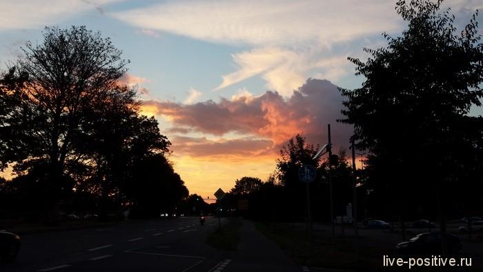 Закат в Кельне